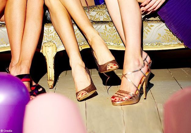 Chaussures : une touche de glitter