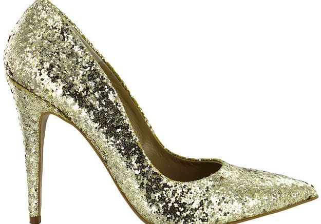 Escarpins glitter doré Beryl