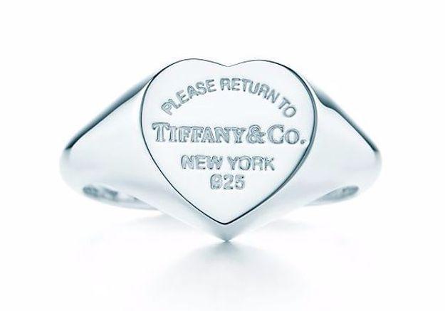Chevalière coeur Tiffany & Co
