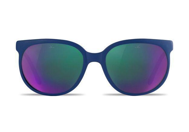 Lunettes de soleil effet miroir coloré Vuarnet