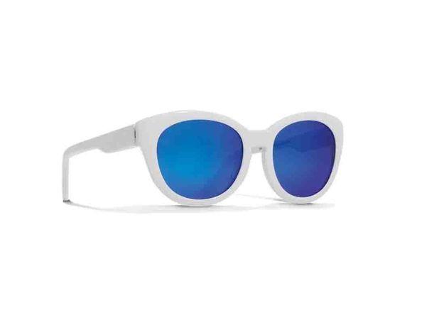 Lunettes de soleil miroir verres bleus Courrèges Eyewear