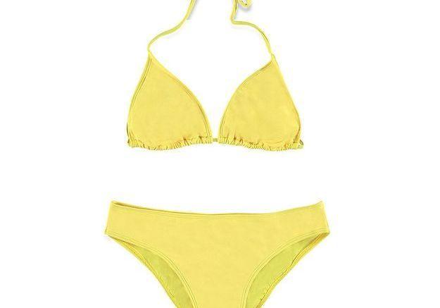 Maillot de bain triangle jaune Forever 21