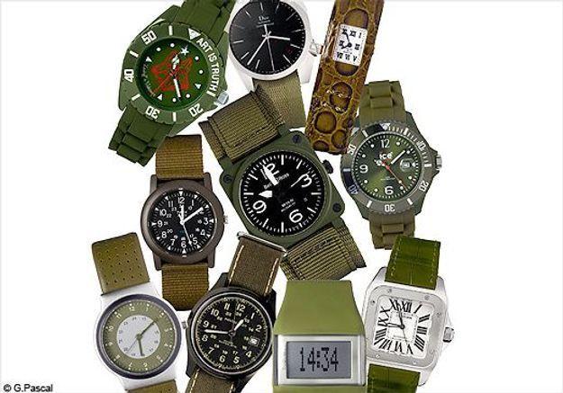 On veut toutes une montre kaki