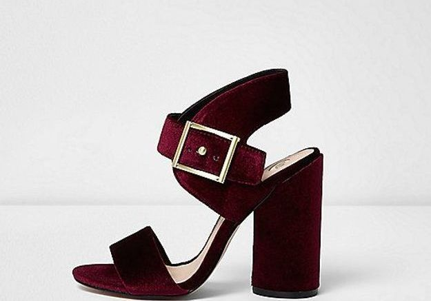Chaussures en velours River Island