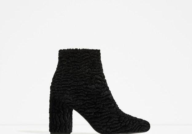 Chaussures en velours Zara