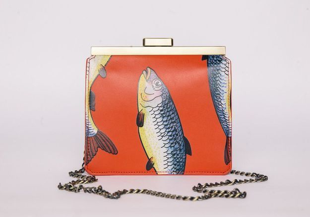 Le sac à main imprimé poissons Tammy & Benjamin
