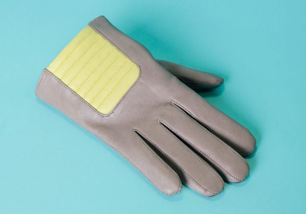 Les gants en cuir d'agneau et cachemire Maison Fabre