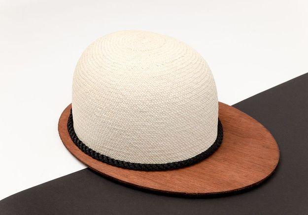La casquette en bois et paille Eliurpí