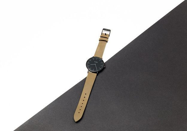 La montre en cuir Cluse