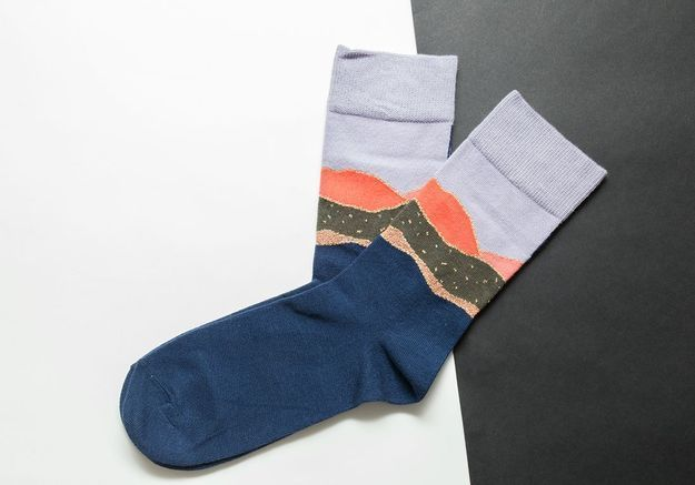 Les chaussettes en lurex et coton Badelaine