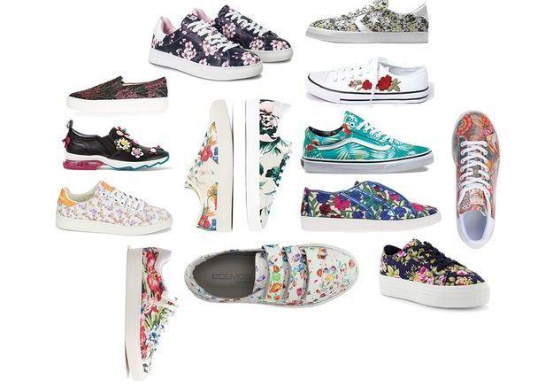 On veut des baskets à fleurs