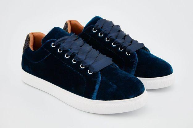 Baskets bleues Bons Baisers de Paname