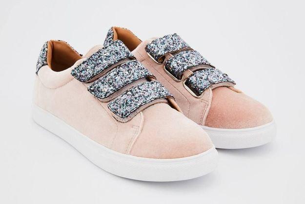 Baskets rose poudré Bons Baisers de Paname