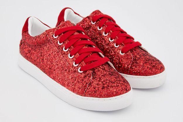 Baskets rouges Bons Baisers de Paname