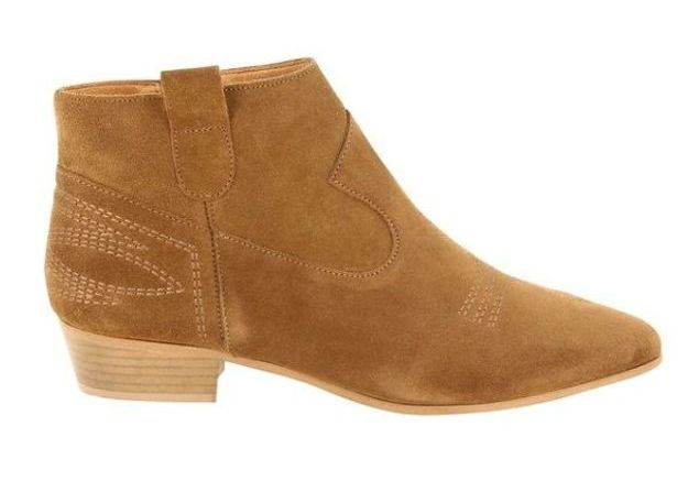 Boots camel Galeries Lafayette