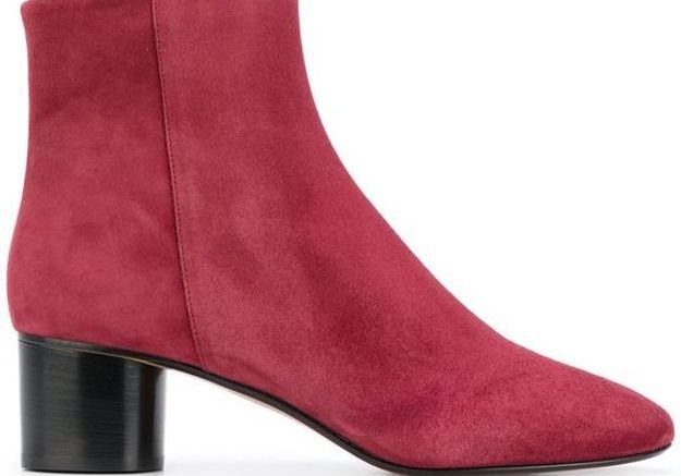 Bottes rouges en cuir Isabel Marant