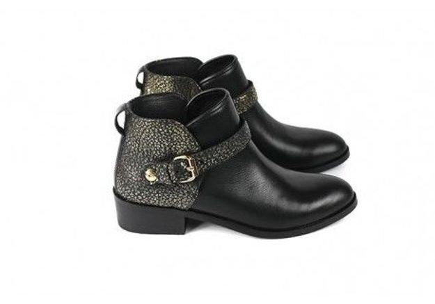 Bottines noires Craie