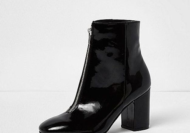Bottines noires River Island