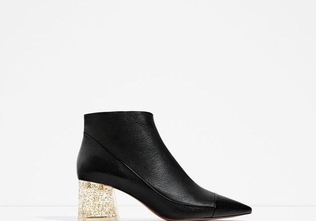 Bottines noires Zara