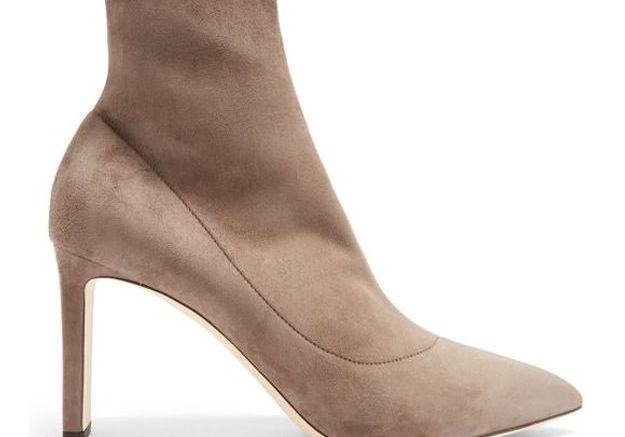 Bottines chaussettes beige Jimmy Choo