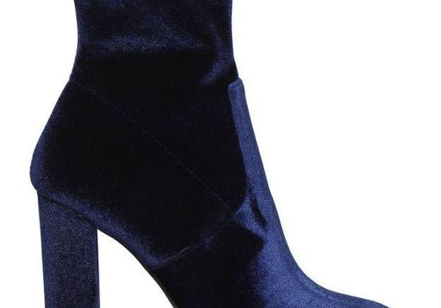 Bottines chaussettes en velours Steve Madden