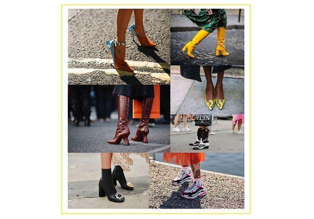 Les 120 plus belles chaussures repérées à la Fashion Week