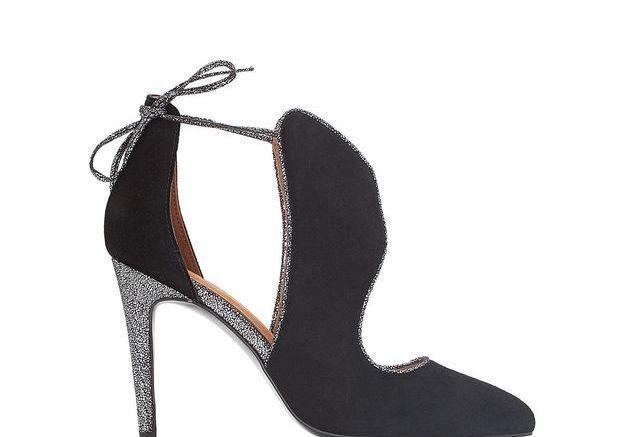 Chaussures sexy boots ajourées pailletées Mademoiselle R