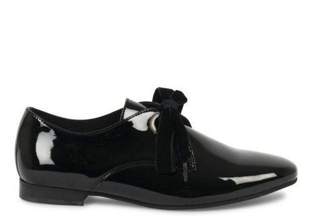 Chaussures sexy derbys à lacets en velours André