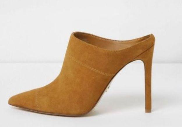 Chaussures sexy mules en daim River Island