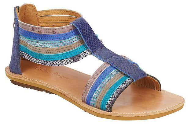 Mode guide shopping tendance accessoire chaussues sandales plates Couleur Pourpre