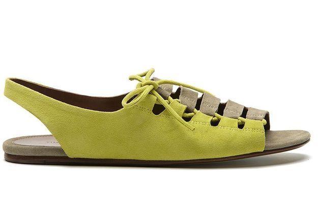 Mode guide shopping tendance accessoire chaussues sandales plates tila march jaune