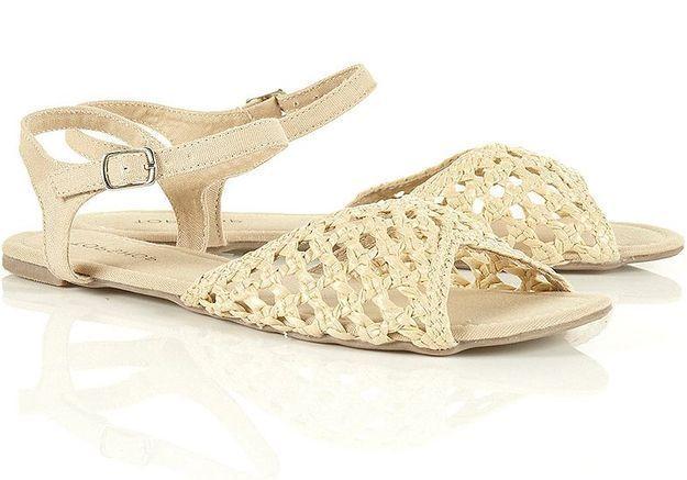 Mode guide shopping tendance accessoire chaussues sandales plates topshop sandales tressees paille