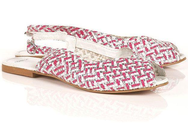 Mode guide shopping tendance accessoire chaussues sandales plates topshop sandales tressees rose gris