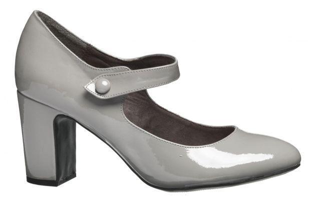 Chaussures babies en cuir gris Eram