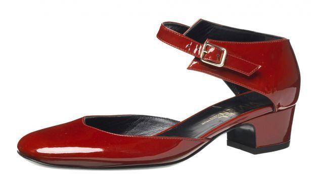 Chaussures babies rouges Michel Vivien
