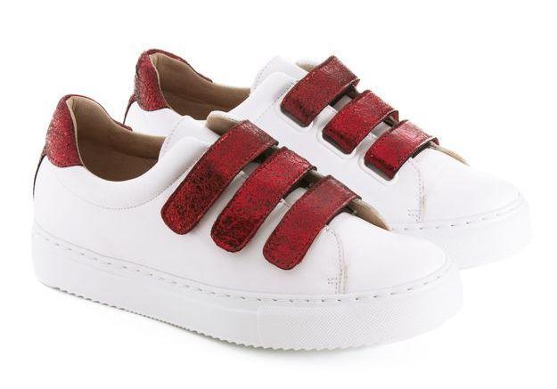 Baskets blanc et rouge Jules & Jenn