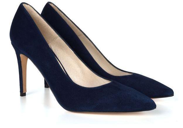 Escarpins en daim bleu nuit Jules & Jenn
