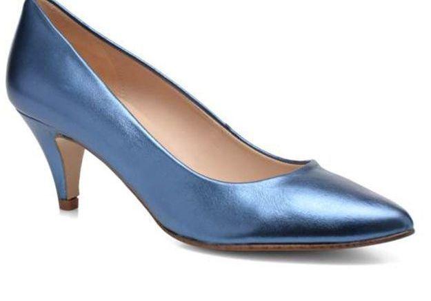 Escarpins bleus à petits talons Anna Volodia