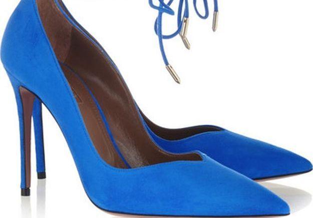 Escarpins bleus Aquazzura