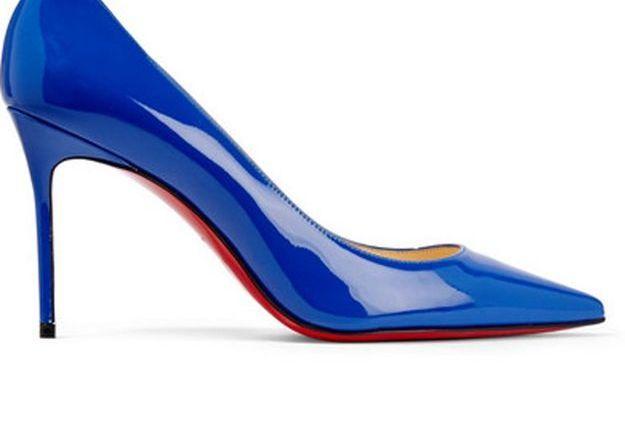 Escarpins bleus Christian Louboutin