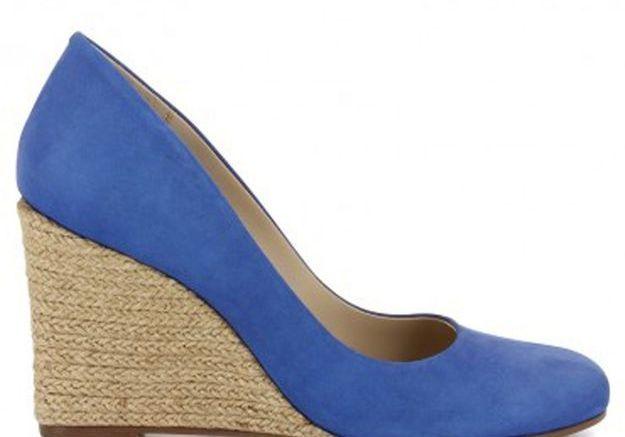 Escarpins bleus compensés San Marina