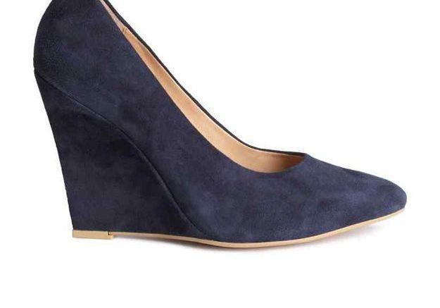Escarpins bleus en daim H&M