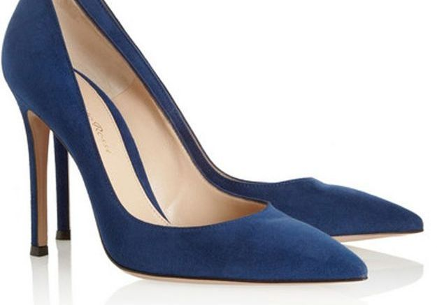 Escarpins bleus Gianvito Rossi