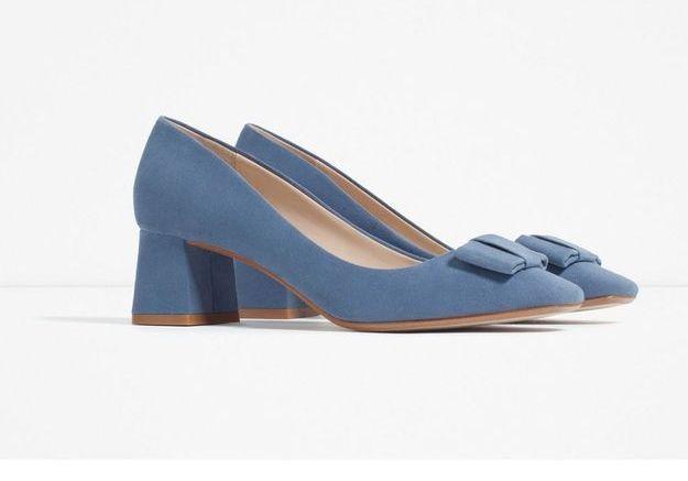 Escarpins bleus Zara