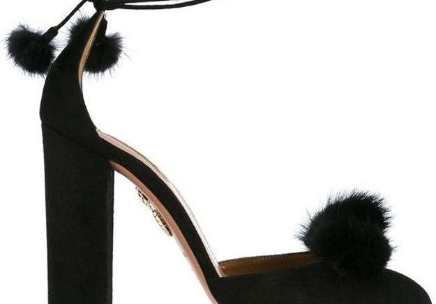 Escarpins noirs à pompons Aquazzura