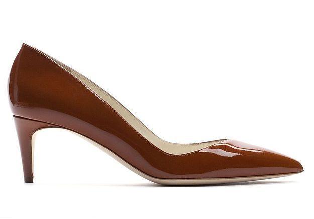 Mode guide shopping tendance chaussure dame escarpin NYM mustard patent