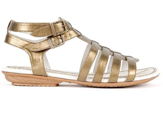 Mode guide shopping tendance accessoires chaussures sandales CALVI BRONZE MANMADE