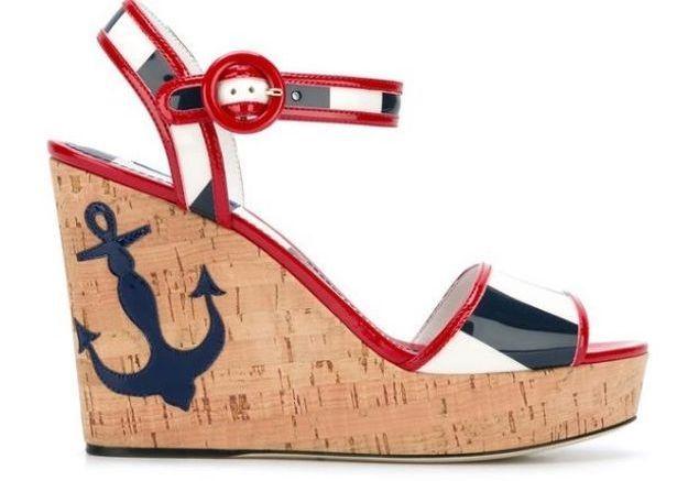 Sandales compensées Dolce & Gabbana