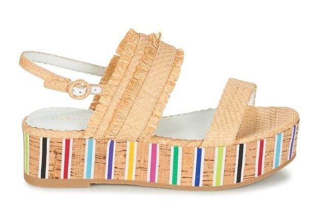 Sandales compensées Mellow Yellow