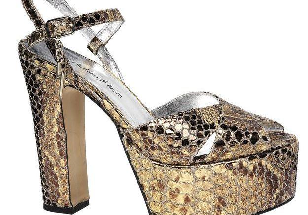 Sandales à plateau à bout ouvert